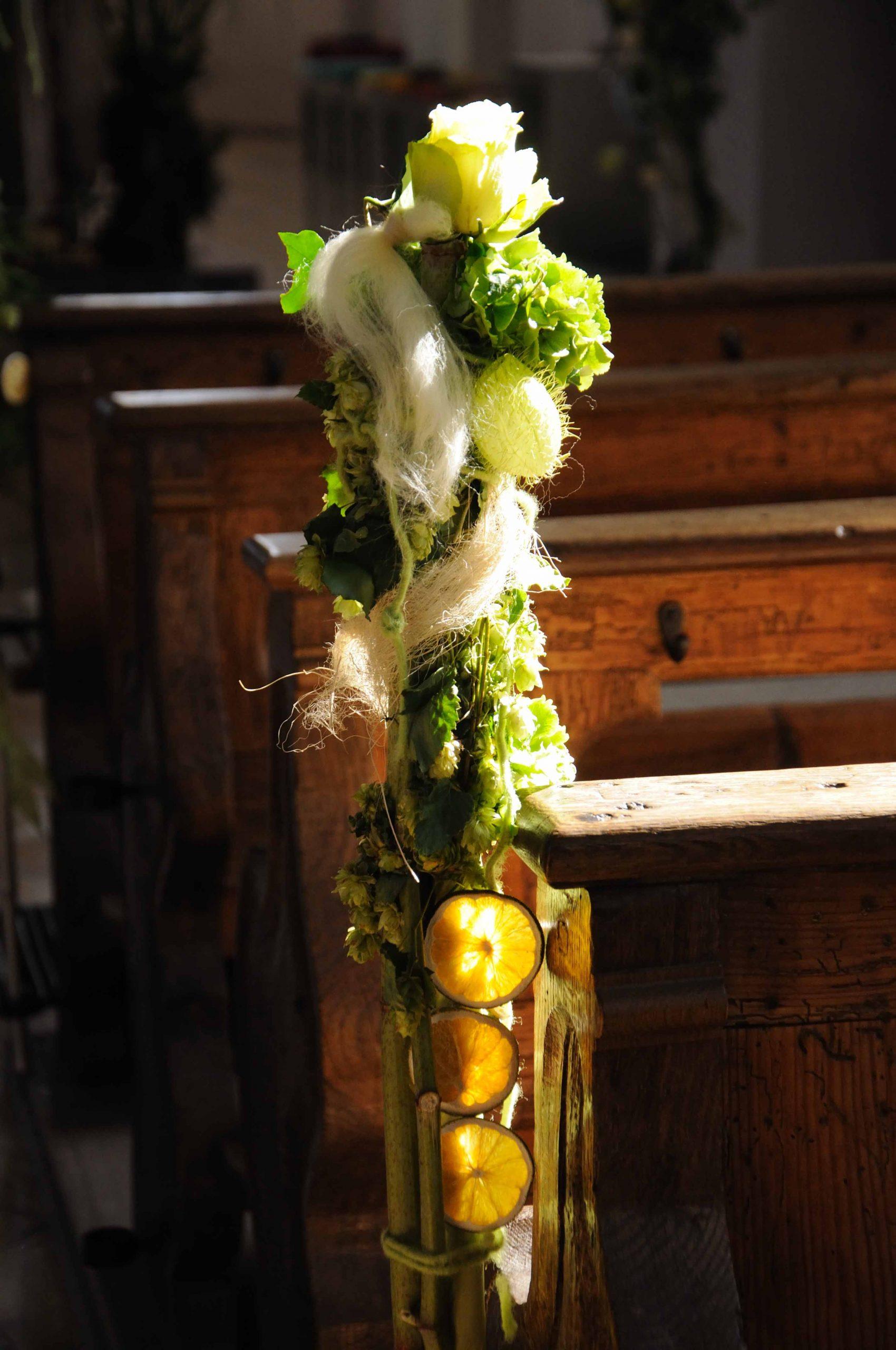 04 Kirchenschmuck in Weiß-Grün