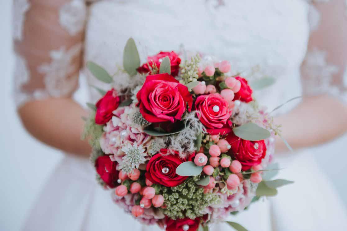 15 rund romantisch rosarot-grau