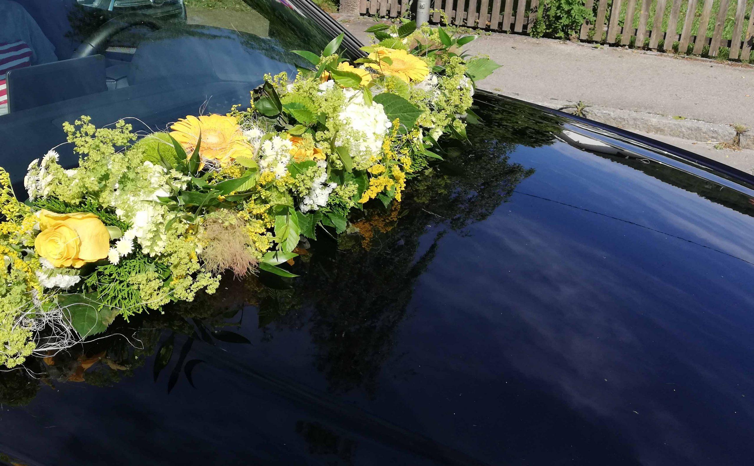 21 Sommerblumengirlande gelb-grün